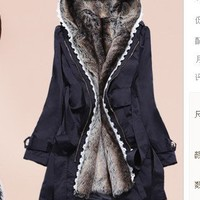 Thickened two-piece new Korean Women Slim warm wool coat from Fashion4you