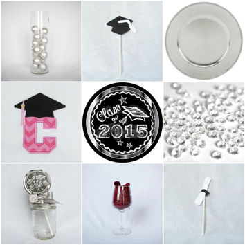 Silver Chalkboard Graduation Custom Party-in-a-box