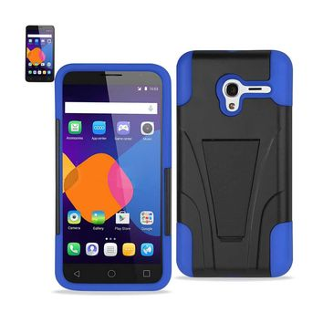 New Alcatel OneTouch PIXI 3 Hybrid Heavy Duty Case With Kickstand In Navy Black