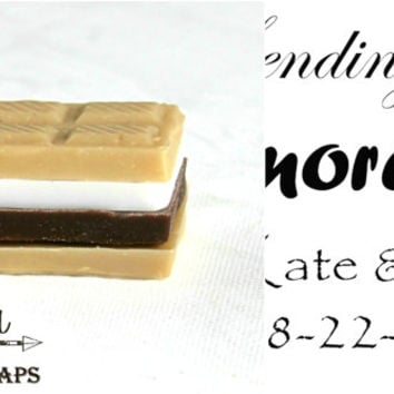 smore soap favor, smores favor, smores wedding favor, smore favor tags, unique, Bridal Shower Favor, Smore Love, Smores Soap, rustic wedding