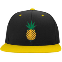 Pineapple Express Weed Leaf Snap back Hat