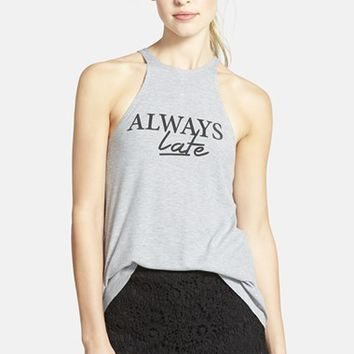 Women's Madison & Berkeley 'Always Late' Ribbed Tank