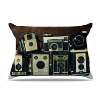 "Robin Dickinson ""Through the Years"" Vintage Camera Pillow Sham"