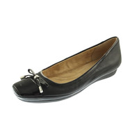 Naturalizer Womens Vision Leather Patent Trim Ballet Flats