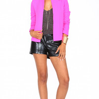 PINK LONG SLEEVE BLAZER