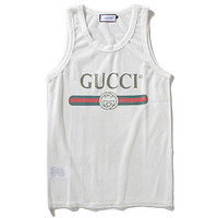 Gucci Fashion Casual Mesh Vest Tank Top