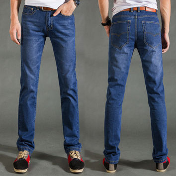 Men Korean Slim Pants Jeans [6528495747]
