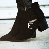 Midnight Rider Booties: Black