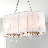 John-Richard Collection - Shaded Honey-Brass Chandelier - Horchow