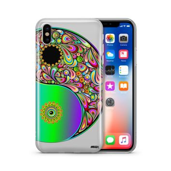 Psychedelic Yin Yang - Clear TPU Case Cover Phone Case