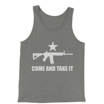 Come And Take It 2nd Amendment Gun Rights Jersey Tank Top for Men