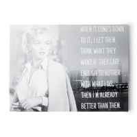 Marilyn Monroe Let Them Think What They Want Wall Canvas