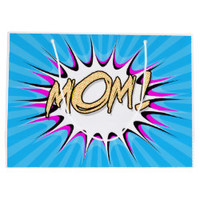 Mom! Comic Book, Pop Art Poster Large Gift Bag