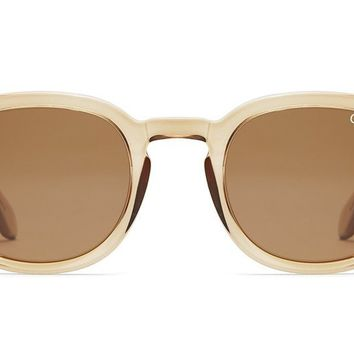 Quay Walk On Toffee Sunglasses / Brown Lenses