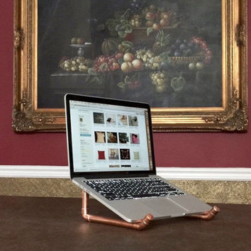 Copper Piping Macbook Stand