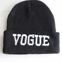 Vogue Black Beanie