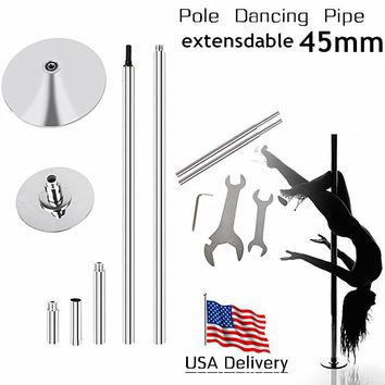 USA shipping! Portable Pole Dance Fitness Equipment Spinning 45mm Extensible