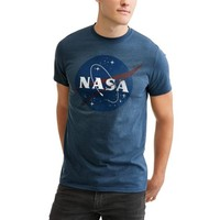 License Nasa Round Logo Mens Tees - Walmart.com