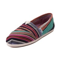 Womens TOMS Classic Multi Stripe Casual Shoe