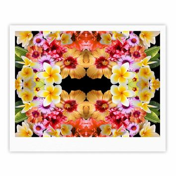 "Danii Pollehn ""Flower Caleidoscope"" Yellow Orange Contemporary Floral Photography Digital Fine Art Gallery Print"