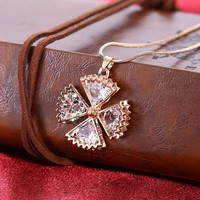 Korea Female Contracted Alloy Sexy Clavicle Chain Pendant Necklace