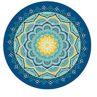 Round PrintBeach Towel Dorm Tapestry Picnic Beach Sheet Coverlet Bohemian Mandala Wall Tapestry 11719 150cm*150cm