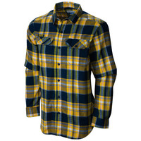 SEARCH Columbia University of Michigan Flare Gun Flannel Button Down Shirt