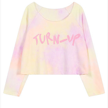 Turn-Up Dipdye Sweater