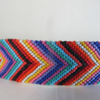 "8"" Carnival Inspired Cheveron Friendship Bracelet"