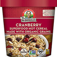 Dr. McDougall's Cranberry Almond Superfood Hot Cereal with Organic Grains - Pack of 6