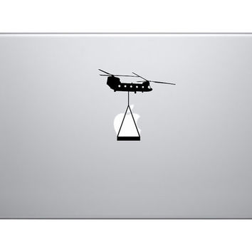 "Army Chinook Helicopter Lift Vinyl Decal Sticker - Skin MacBook Pro Air 13"" 15"" 17"" Laptop Chinook ipad"