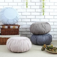 Japan Style Cotton/Linen Decorative Round Seat Cushion Thicken Hassock Chair Tatami Bay Window Stool Cushion Futon Home Supplies