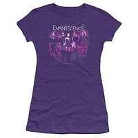 Evanescence Band Shot Juniors T-Shirt