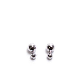 Disco Ball Earrings - Silver