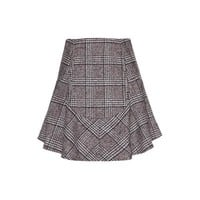 carven - wool-blend tweed skirt