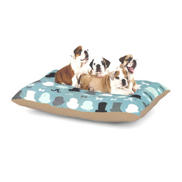 "Heidi Jennings ""Hats Off To You"" Blue Gray Dog Bed"