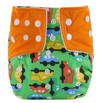 Baby Infant Printed Cloth Diapers Reusable Nappy reusable diapers washable diaperSnap Nappy baby training pants reusable diapers