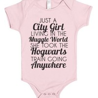 just a city girl baby Onesuit-Unisex Light Pink Baby Onesuit 00