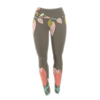 "Very Sarie ""Penelope I"" Brown Coral Yoga Leggings"