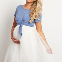 Blue-Tie-Front-Short-Sleeve-Crop-Top