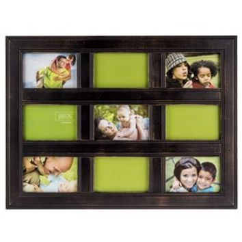 "18"" x 24"" Black Distressed Panel Collage Frame 