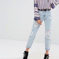 Missguided Riot Open Rip Mom Jean at asos.com