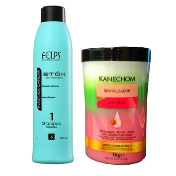 KIT D HYDRATATION KANECHOM FRUIT MIX ET SHAMPOING ANTI DECHETS 1000ml