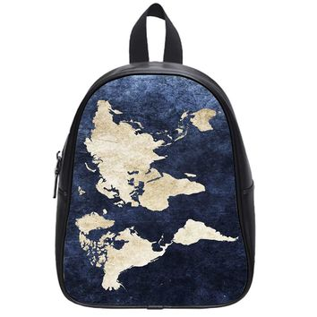 World Grunge Map School Backpack Small