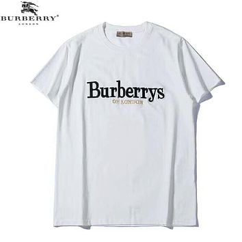 Burberry Summer Fashion New Bust Embroidery Letter Women Men Top T-Shirt