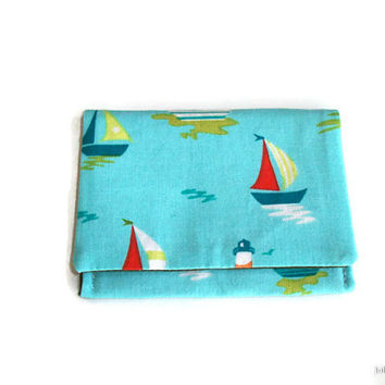 Sail Boats on the Water Credit Business or Frequent Shopper Card Holder Case
