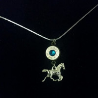 bullet necklace with horse charm