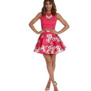 Ashley Fuchsia Two Piece Dress