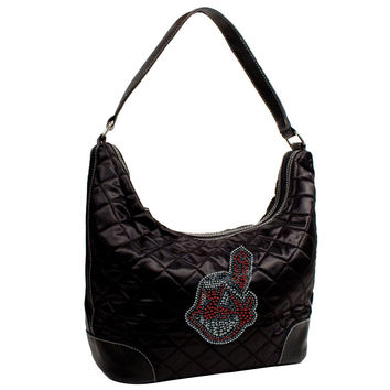 Cleveland Indians MLB Sport Noir Quilted Hobo