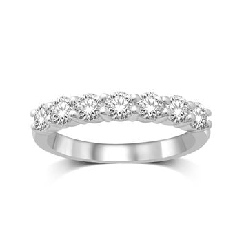 14K White Gold 1/2 Ct.Tw.Diamond Wedding Band